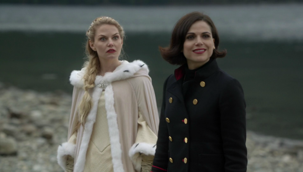 Jennifer Morrison as Emma & Lana Parrilla as Regina Once Upon a Time Season 6 Episode 11 Tougher Than the Rest picture image
