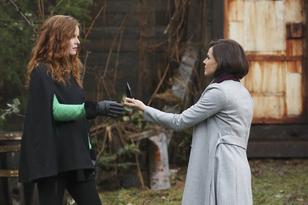 Lana Parrilla as Regina & Rebecca Mader as Zelena Once Upon a Time Season 6 Episode 17 Where Blue Bird Fly picture image