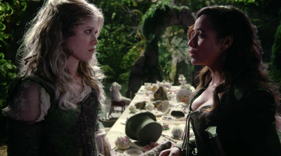 Rose Reynolds as Alice & Dania Ramirez as Ella Once Upon a Time Season 7 episode 8 Pretty in Blue picture image
