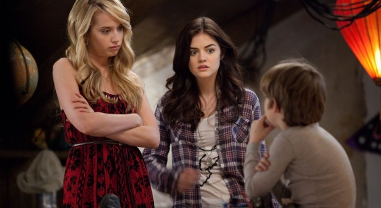 Megan Park as Lucy Hale as Katie and Matthew Lintz as Victor A Cinderella Story Once Upon a Song picture image