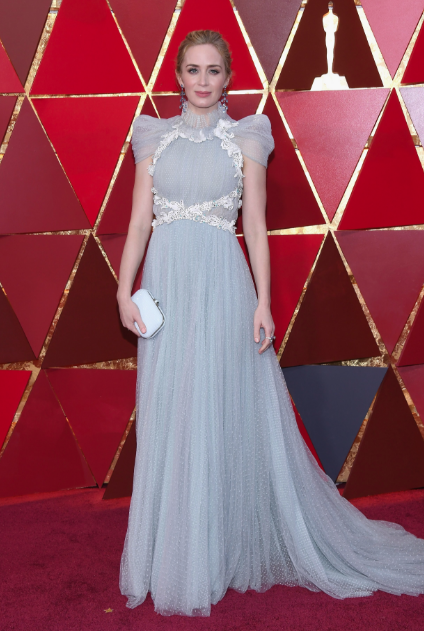 Emily Blunt in Schiaprelli Oscars 2018 picture image