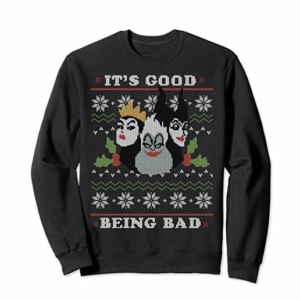 Disney Villains Good Bad Ugly Christmas Sweater picture image