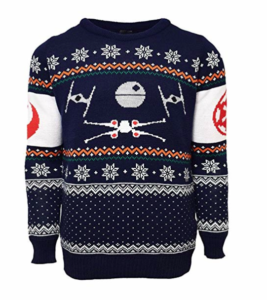 Star Wars Official X-Wing Vs. Tie Fighter Christmas Sweater picture image
