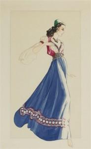 Walter Plunkett design Costume for Esmeralda 1939 Hunchback of Notre Dame picture image