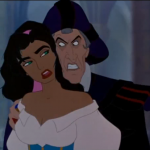 Frollo Hunchback of Notre Dame with Esmeralda Disney picture image