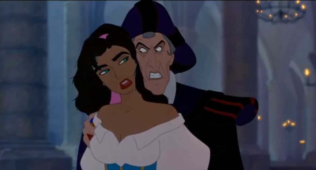 Esmeralda and Frollo Disney Hunchback of Notre Dame picture image