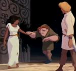 Esmeralda, Quasimodo and Phoebus Disney Hunchback of Notre dame picture image