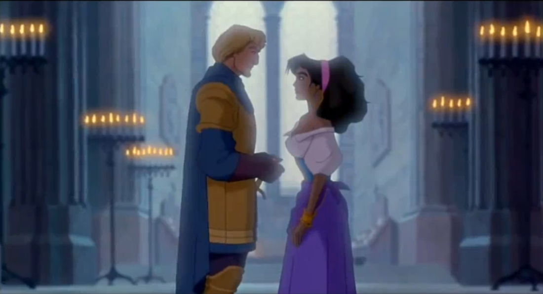 Esmeralda and Phoebus Disney Hunchback of Notre Dame picture image