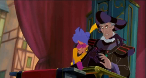 Frollo Hunchback of Notre Dame with Clopin Disney picture image