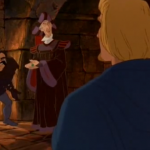 Frollo Hunchback of Notre Dame with Phoebus Disney