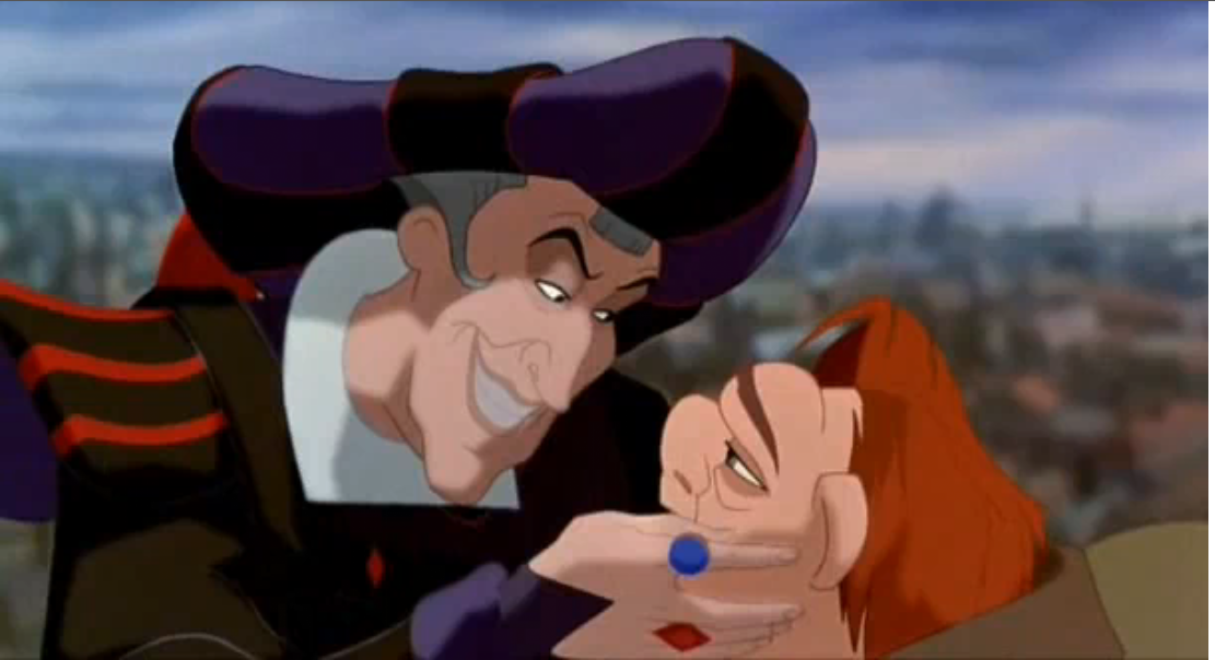 Frollo and Quasimodo Hunchback of Notre Dame Disney picture image
