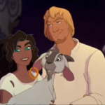 Djali, Esmeralda, and Phoebus Disney Hunchback of Notre Dame picture image