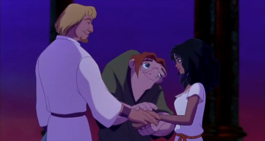 Esmeralda, Phoebus, and Quasimodo Disney Hunchback of Notre Dame picture image