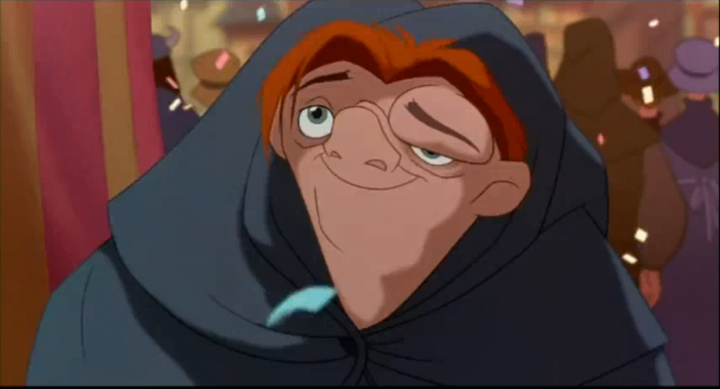 Quasimodo gazing at Esmeralda Hunchback of Notre Dame Disney picture image