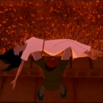 Quasimodo declares Sanctuary for Esmeralda Hunchback of Notre Dame Disney picture image