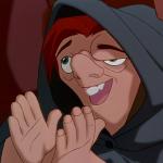 Quasimodo clapping Disney Hunchback of Notre Dame