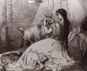 19th Century Illustration of Esmeralda with Dj