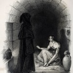 Esmeralda in the dungeon of La Tournelle. Illustration by Burdet