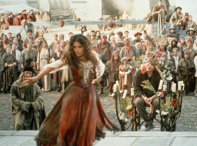 Salma Hayek as Esmeralda, 1997 Hunchback of Notre Dame