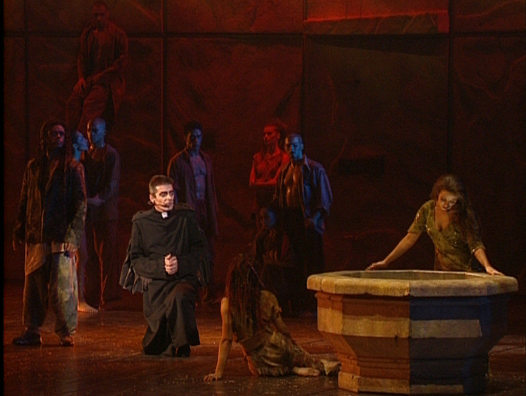 Frollo and Esmeralda during Belle, Notre Dame de Paris picture image