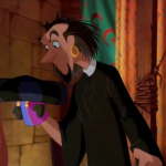 Clopin cosplaying as Frollo overruling his puppet Disney Hunchback of Notre Dame picture image