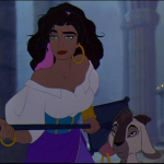 Esmeralda and Djali Disney Hunchback of Notre Dame picture image