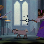 Djali glaring at Phoebus Disney Hunchback of Notre dame picture image