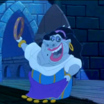 Hugo in drag as Esmeralda Disney Hunchback of Notre Dame