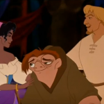 Phoebus, Quasimodo, Esmeralda Disney Hunchback of Notre Dame