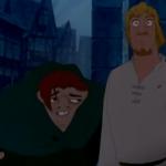 Phoebus and Quasimodo warn Esmeralda Disney Hunchback of Notre Dame