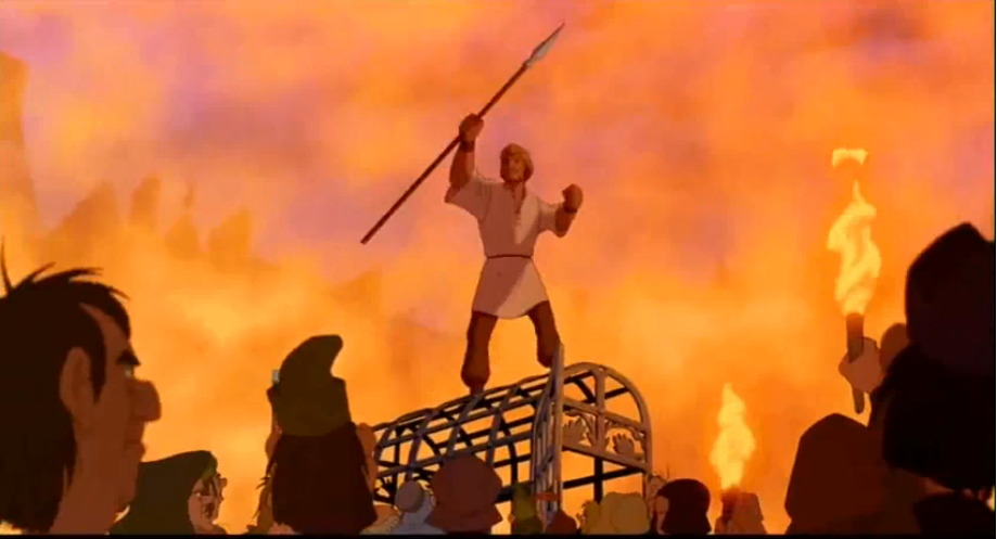 Phoebus Rallies the People Disney Hunchback of Notre Dame picture image