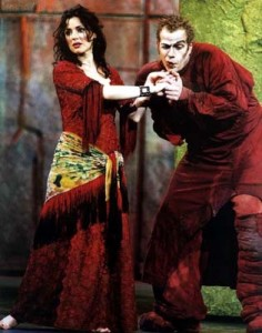 Tina Arena As Esmeralda in the Promotional Red Dress Notre Dame de Paris 2000 London Castpicture image