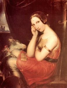 Painting of Esmeralda and Djali by Wiertz