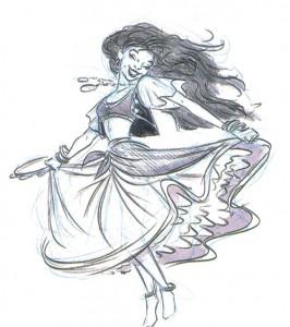 Concept Art for Esmeralda Disney Hunchback of Notre Dame picture image