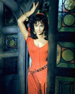 Gina Lollobrigida as Esmeralda Hunchback of Notre Dame 1956 picture image