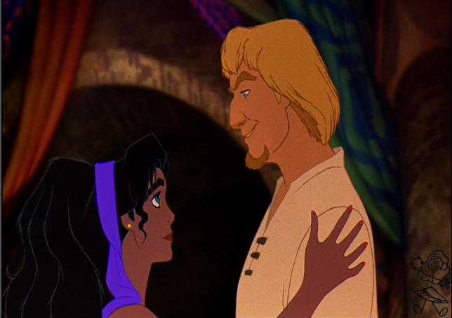 Disney Hunchback of Notre Dame Esmeralda and Phoebus differences picture image