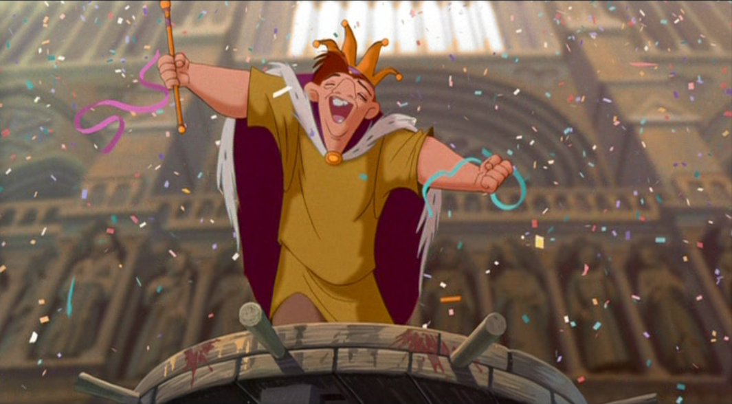 Quasimodo as the King of Fools Topsy Turvy Disney Hunchback of Notre Dame picture image