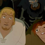 Phoebus and Quasimodo Court of Miracles Disney Hunchback of Notre Dame picture image