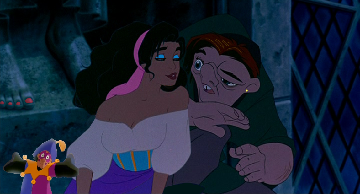 Esmeralda and Quasimodo spot the difference game disney hunchback of Notre Dame picture image