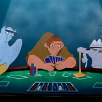 Victor, Laverne and Quasimodo playing poker A Guy like you Disney Hunchback of Notre Dame picture image