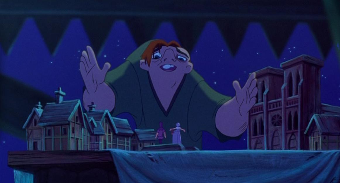 Quasimodo singing Heaven's Light Disney Hunchback of Notre Dame picture image
