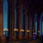 Quasimodo watching to Esmeralda during God Help the Outcast Disney Hunchback of Notre Dame picture image