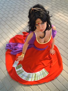 Mikan-takaumi as Esmeralda in the Red Dress Disney Version costume Cosplay picture image