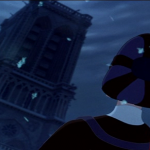 Frollo looking up at Notre Dame Disney Hunchback of Notre Dame picture image
