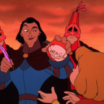 Sarousch autographs a ball for Zephyr Sequel Hunchback of Notre Dame II Disney picture image