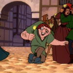 Quasimodo with dancing extras Le Jour D'Amour Hunchback of of Notre Dame II 2 Sequel piciure image disney