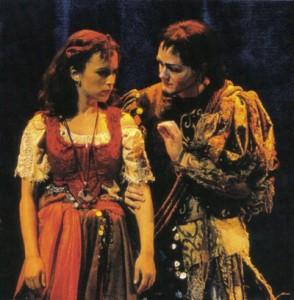 Esmeralda and Clopin Tanz auf dem Seil Der Glöckner von Notre Dame picture image