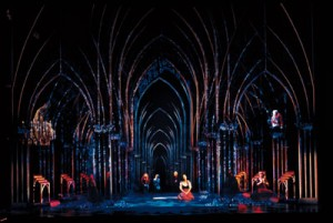 Esmeralda singing Hilf den Verstoßenen in Der Glöckner von Notre Dame picture image