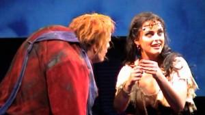 Esmeralda and Quasimodo during Hoch über der Welt in Der Glöckner von Notre Dame picture image