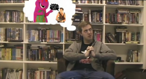 LazerDude99's Barney/Die Hard joke